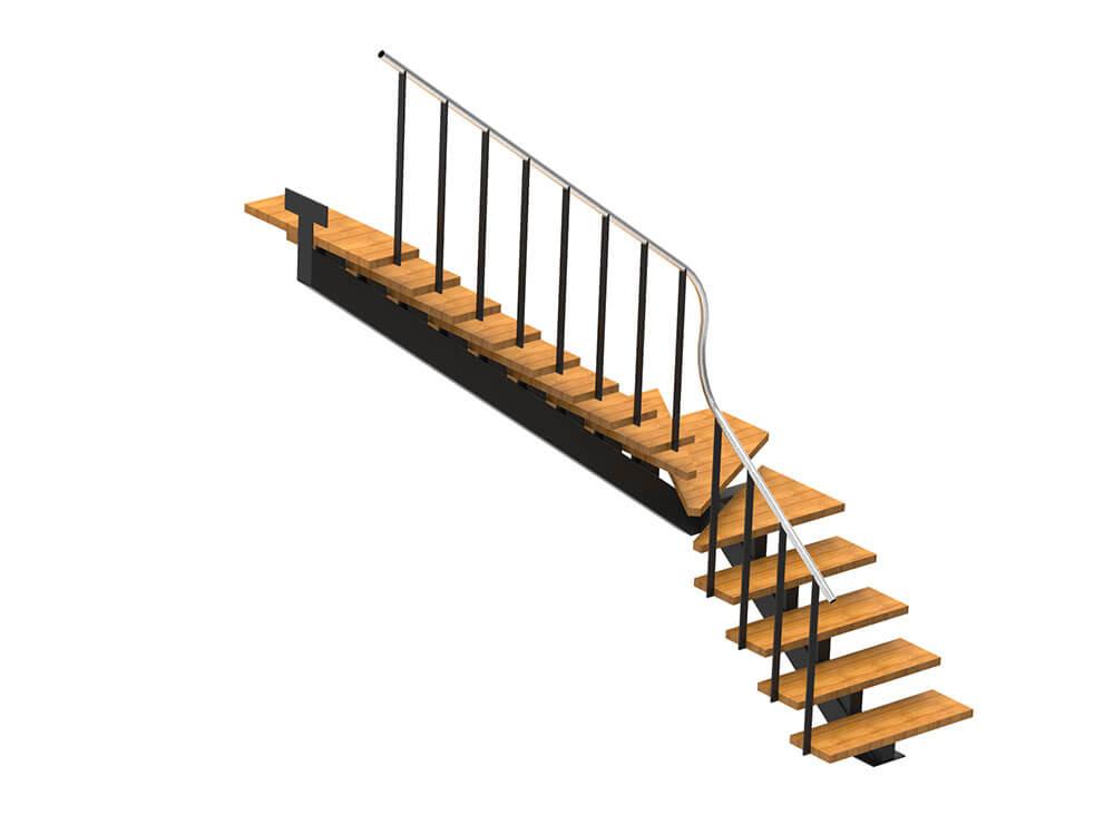 L-kujuline trepp